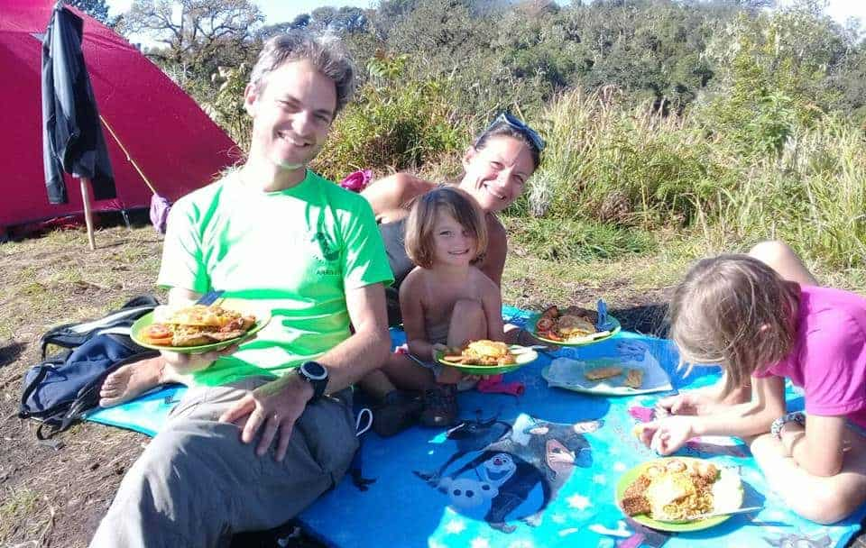 Lunch on Campsite
