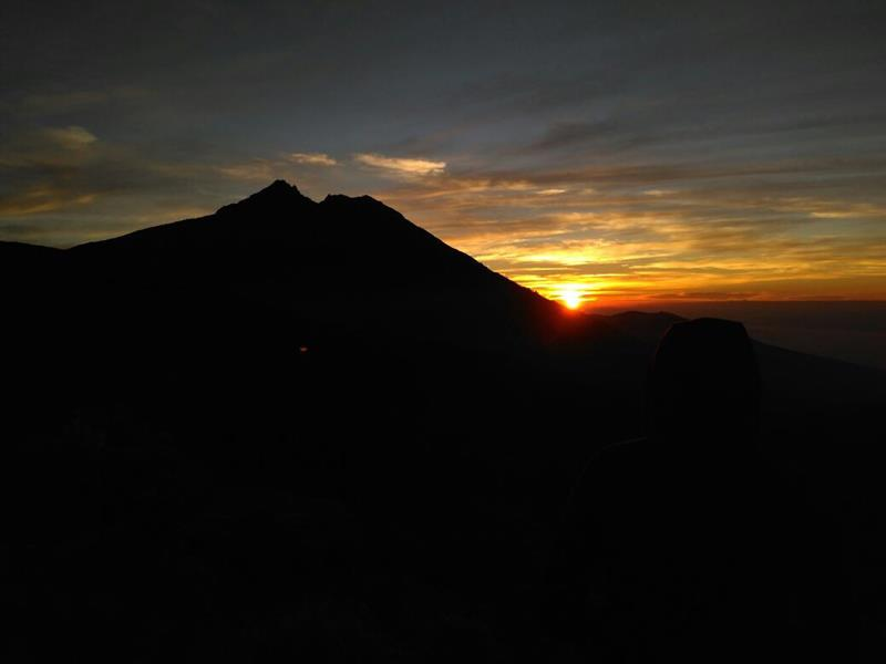 Sunrise on Tetebatu Crater Rim