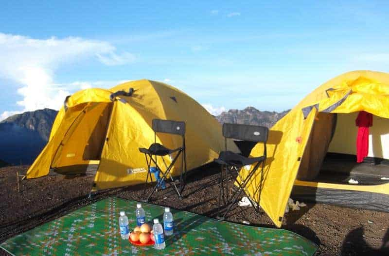 Camping On Crater Rim Senaru