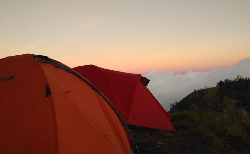 Camping On Crater Rim Tetebatu