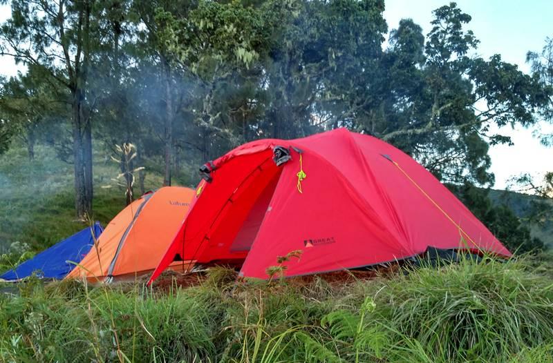 Camping On Tetebatu Camp Site