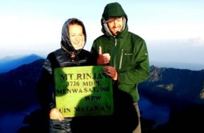 On Top Mount Rinjani 3726m